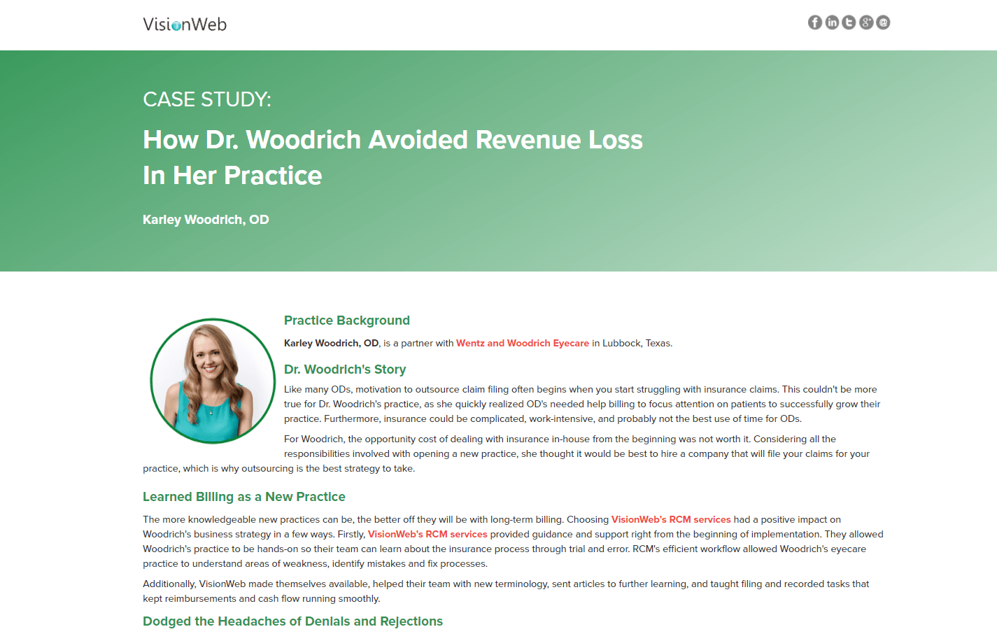 How Dr. Woodrich Avoided Revenue Loss in Her Practice