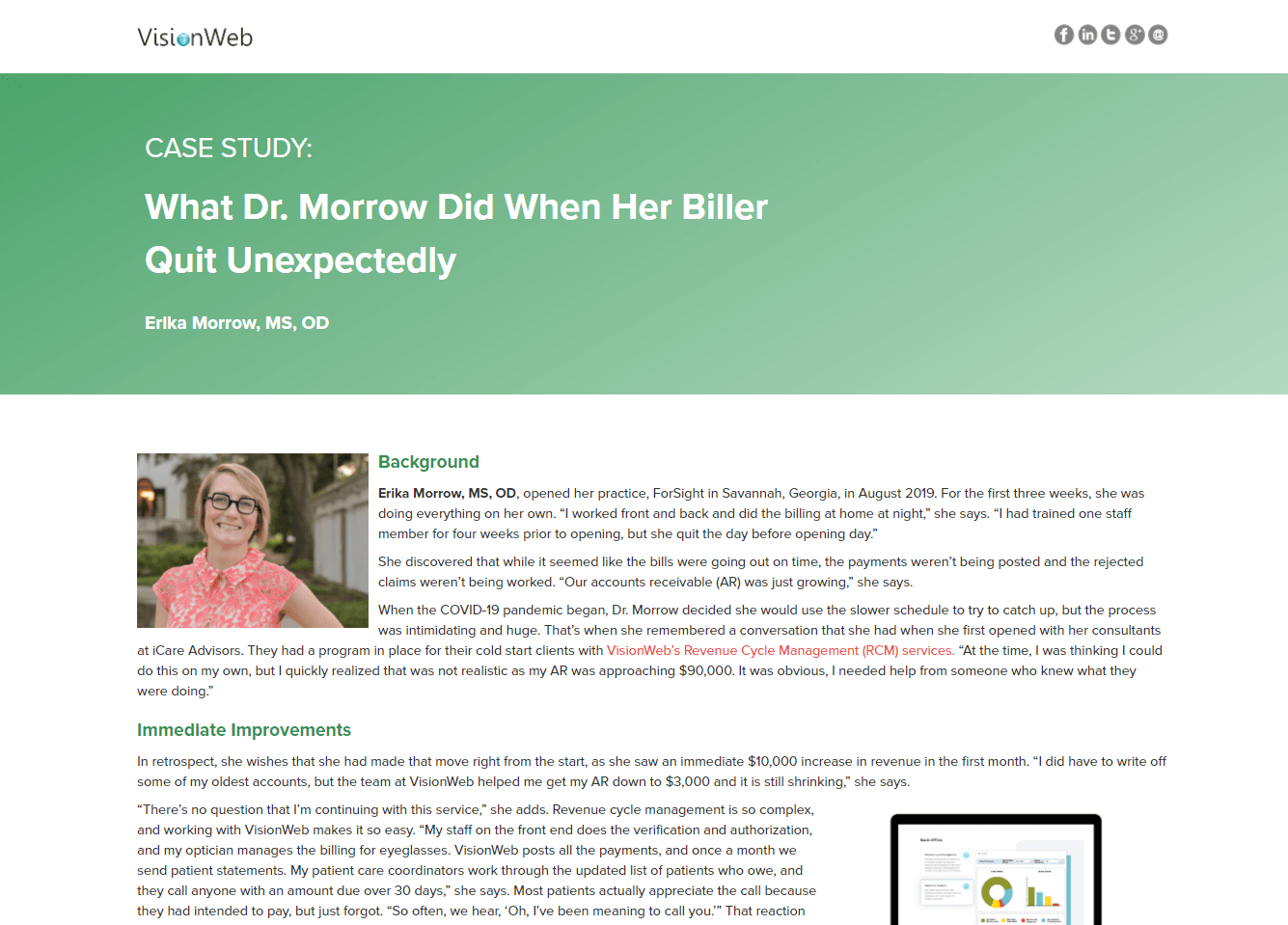 What Dr. Morrow Did When Her Biller Quit Unexpectedly