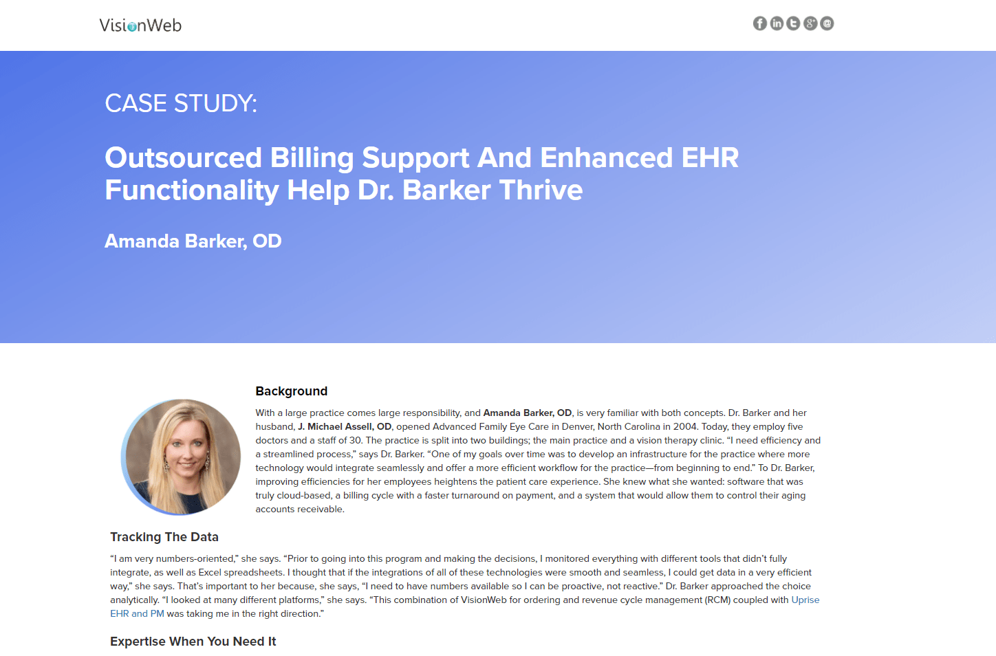 Outsourced Billing Support And Enhanced EHR Functionality Help Dr. Barker Thrive