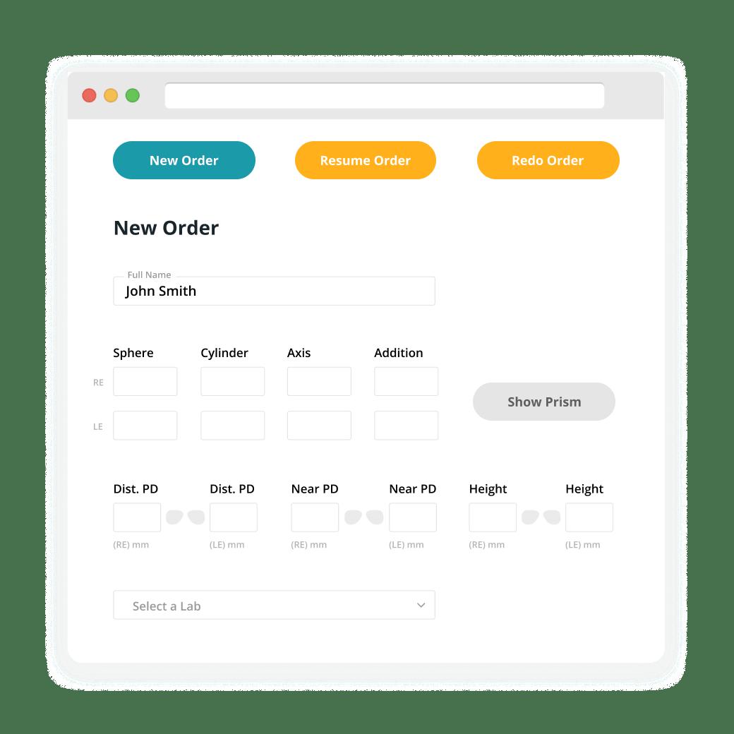 online order screenshot